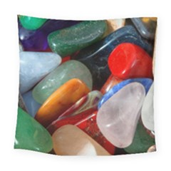 Beautiful Stones In Different Colors Colorful Square Tapestry (large)