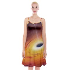 Black Hole Spaghetti Strap Velvet Dress