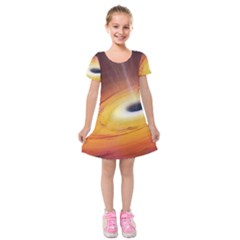 Black Hole Kids  Short Sleeve Velvet Dress