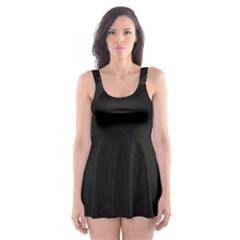 Black Light Dark Figures Skater Dress Swimsuit