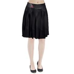 Black Light Dark Figures Pleated Skirt