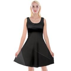 Black Light Dark Figures Reversible Velvet Sleeveless Dress