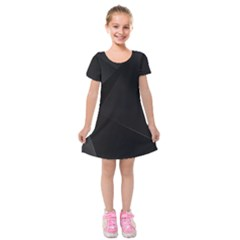 Black Light Dark Figures Kids  Short Sleeve Velvet Dress