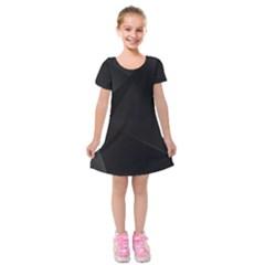 Black Light Dark Figures Kids  Short Sleeve Velvet Dress