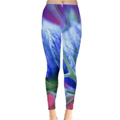Blue Flowers With Thorns Leggings