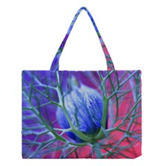 Blue Flowers With Thorns Medium Tote Bag