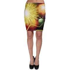 Celebration Colorful Fireworks Beautiful Bodycon Skirt