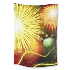 Celebration Colorful Fireworks Beautiful Large Tapestry