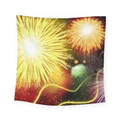 Celebration Colorful Fireworks Beautiful Square Tapestry (small)