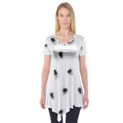 Flies Short Sleeve Tunic
