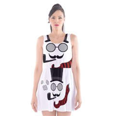 Invisible man Scoop Neck Skater Dress