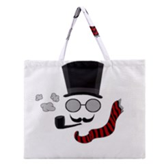 Invisible man Zipper Large Tote Bag