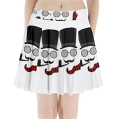 Invisible man Pleated Mini Skirt