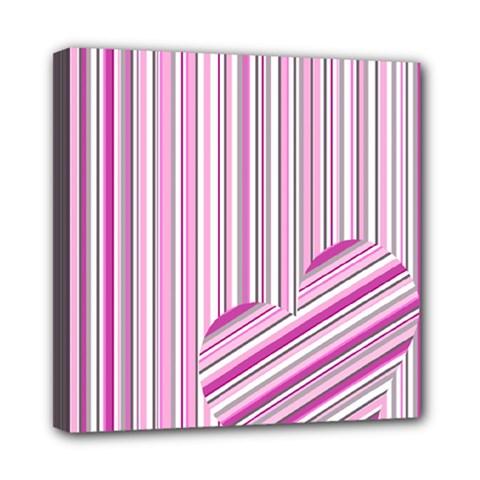 Pink love pattern Mini Canvas 8  x 8