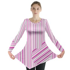 Pink love pattern Long Sleeve Tunic