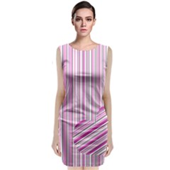 Pink love pattern Classic Sleeveless Midi Dress
