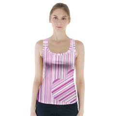 Pink love pattern Racer Back Sports Top
