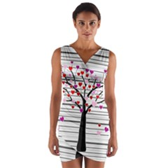 Love tree Wrap Front Bodycon Dress