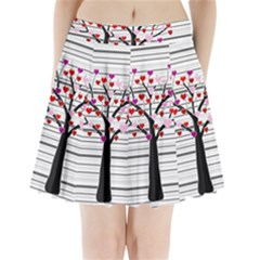 Love tree Pleated Mini Skirt