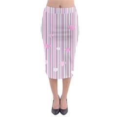 Pink love Midi Pencil Skirt