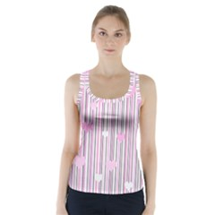 Pink love Racer Back Sports Top