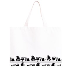 Simple black and white design Large Tote Bag