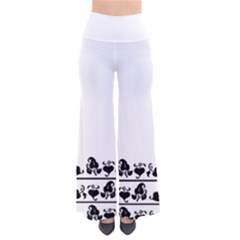 Simple black and white design Pants