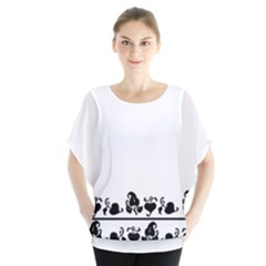 Simple black and white design Blouse
