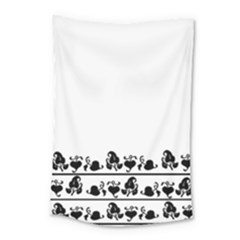 Simple Black And White Design Small Tapestry