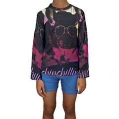Maggie Chinchillin Version 2 Kids  Long Sleeve Swimwear