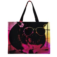Maggie Chinchillin Version 2 Large Tote Bag