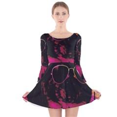 Maggie Chinchillin Version 2 Long Sleeve Velvet Skater Dress