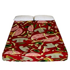 Pizza Pattern Fitted Sheet (king Size)