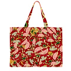 Pizza pattern Large Tote Bag
