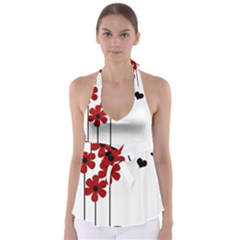 Flowers Babydoll Tankini Top