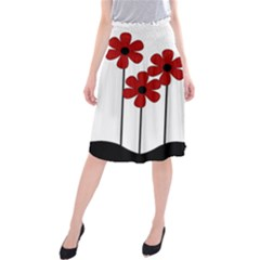 Flowers Midi Beach Skirt