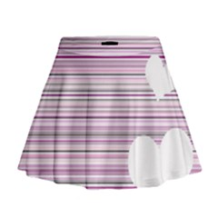 Pink Valentines day design Mini Flare Skirt