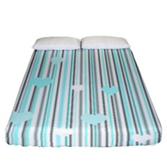 Cyan Love Fitted Sheet (queen Size)