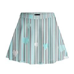 Cyan Love Mini Flare Skirt