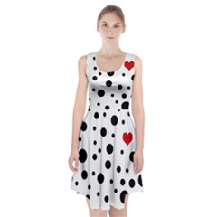 Dots and hart Racerback Midi Dress
