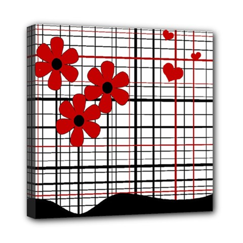 Cute floral desing Mini Canvas 8  x 8