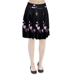 Pink harts design Pleated Skirt