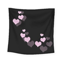 Pink Harts Design Square Tapestry (small)