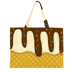 Ice cream zoom Large Tote Bag