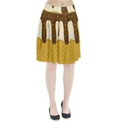 Ice cream zoom Pleated Skirt
