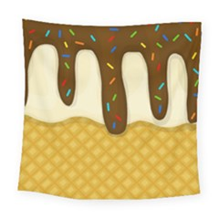 Ice Cream Zoom Square Tapestry (large)