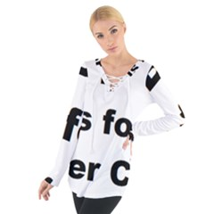 B Is For Border Collie Women s Tie Up Tee