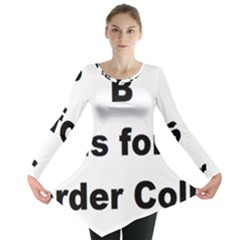 B Is For Border Collie Long Sleeve Tunic