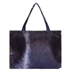 Border Collie B W Eyes Medium Tote Bag