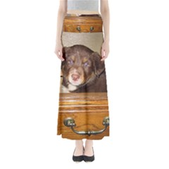 Border Collie Puppy In Drawr Maxi Skirts